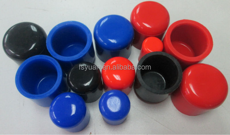 Rubber end caps for pipe stop protector