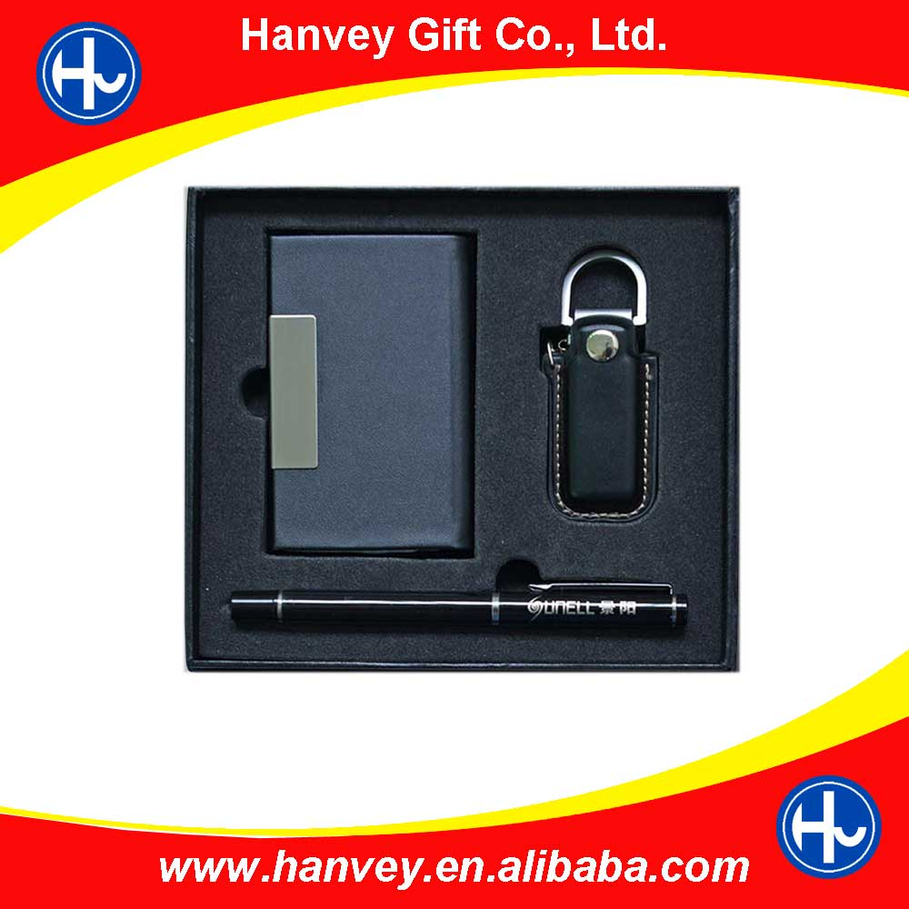 High quality customized made-in-china Leather Gift Set for Croporate Gifts packaging for men
