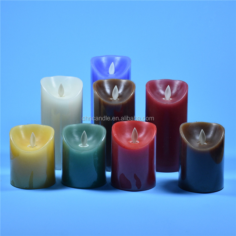 Customed Luxury Brand flicker rechargeable led tea candle