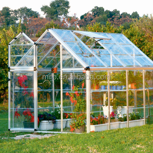 Hot sale Easily installed Garden used Glass Greenhouse