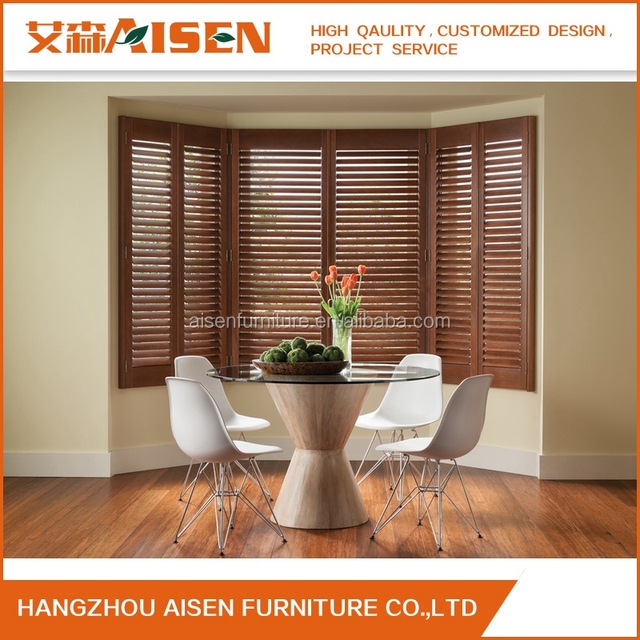 Hangzhou Customized Plantation Wooden Interior Shutter Window For UK