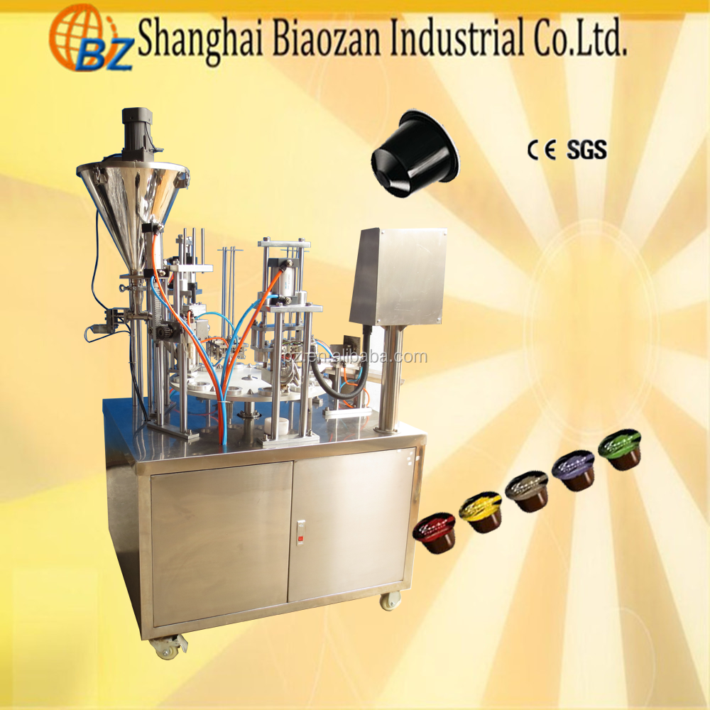 CE Certificate Automatic Plastic Cup Filling Sealing Machine, Plastic Cup Sealer Machine