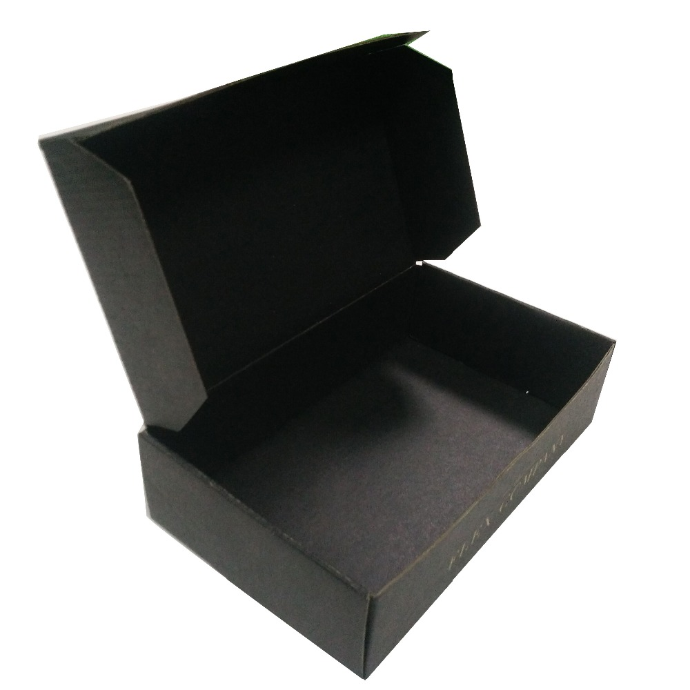 China manufacturers black colour corrugated printed wholesale custom mailer <strong>boxes</strong>