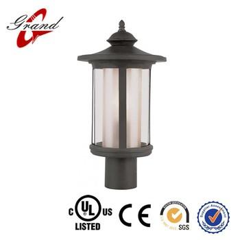 European Style Solar Led Outdoor Post Light Fixture Lamp