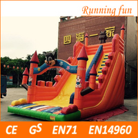 2017 popular design professional supplier giant inflatable slide, giant inflatable water slide, inflatable jumping slide