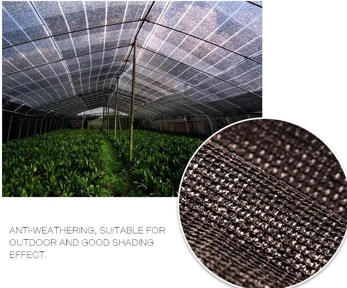 50gsm -100gsm HDPE שחור חממה חקלאי שמש צל רשתות
