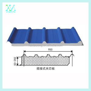 double skin PU sandwich roof panel/polyurethane sandwich roof panel