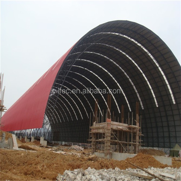 High quality steel structure quotation sample for barrel coal storage