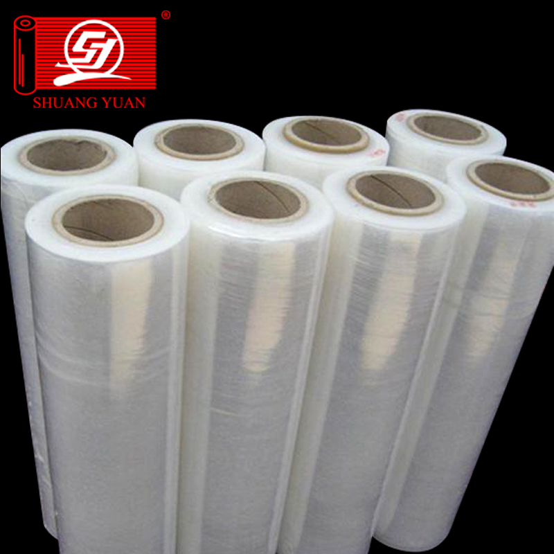 SY Embalaje lldpe stretch film/film estirable urdimbre/film estirable jumbo rollo