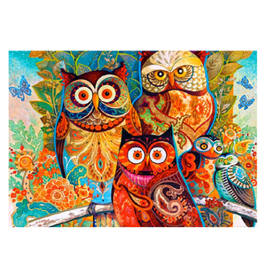2019 New Design DIY Owl Diamond Pictures with Cross Embroidery 5D Diy Diamond indoor decorate hanging painting factory wholesale