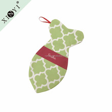 Wholesale personalised animal monogram christmas stocking fish dog bone shaped christmas stocking