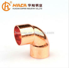 Copper Tube Fitting 45 Degree 90 Degree Elbow for Plumbing Pipe