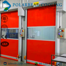 Kitchen cabinet roller shutter door with motor