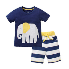 T-shirt shorts kids models baby suit boys clothes