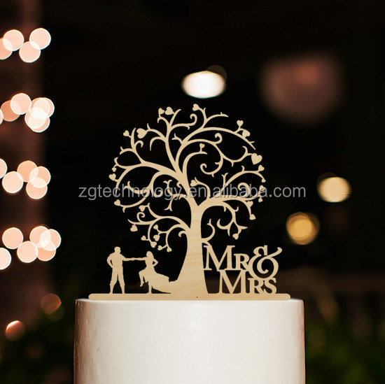 Wedding Accessories Decoration Wood Cake Topper