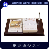 luxury new style 2015 wooden calendar office use gift business gift decoration