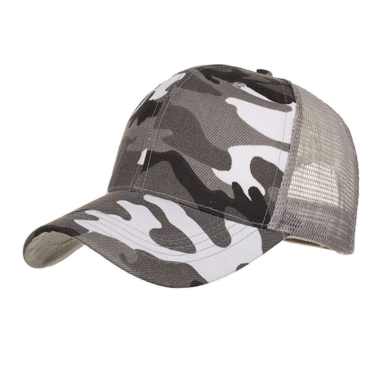 f5eccec6 Yuxikong Unisex Caps,Camouflage Summer Cap Mesh Hats for Men Women Casual Hats  Hip Hop