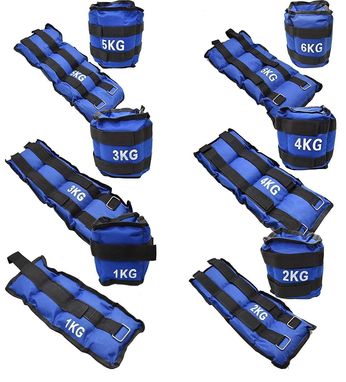 Other 1Kg 2Kg 3Kg 4Kg 5Kg 6Kg Blue Wrist Or Ankle Weights For Exercise Fitness Gym Resistance Steh Training & Running (1Kg = 2 X 0.5Kg)