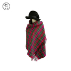 Factory Cheap Plaid Cashmere Merino Tartan Wool Women Shawl