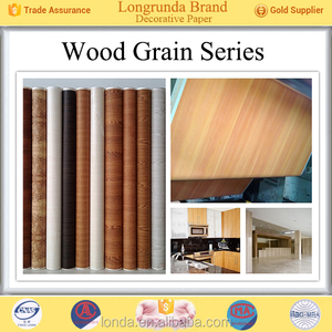 Cool design Perfect Quality Colorful Wood grain excellent custom printed laminated decor paper for furniture