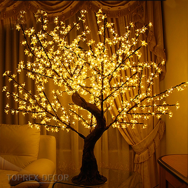 Toprex decor illumination para fiestas commercial rgb color changing led cherry blossom tree light