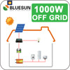 Residential solar power system home energy 1000w 24v solar system