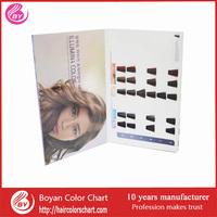 OEM Hair Color Swatch ,folded hair colour chart ,hair color cream chart