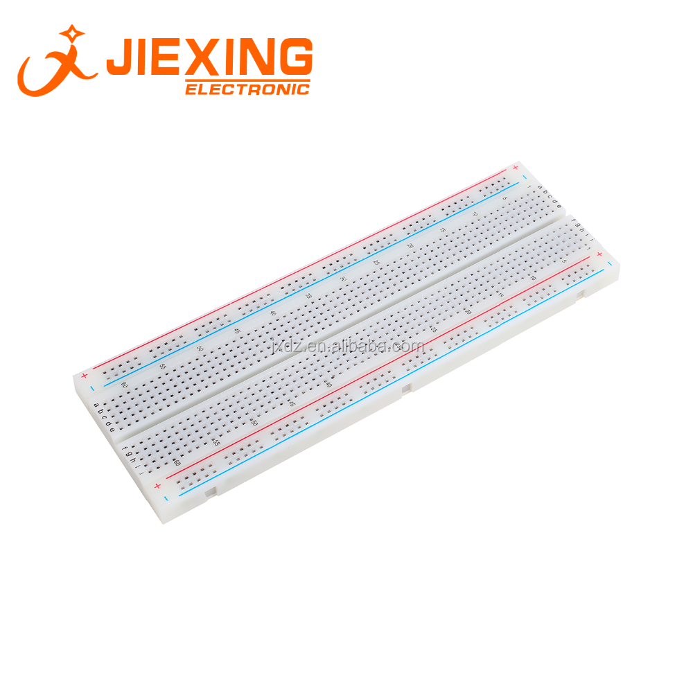 830 Tie-point Breadboard MB-102 830 <strong>Holes</strong> MB102 Donut Board Test Universal Board For Arduino DIY kits