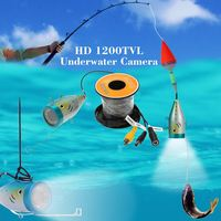 Underwater Mini Fishing Camera HD 1200TVL With 30 Meter Cable 12pcs LED Fish Finder Video Camera for Ice/Sea/River