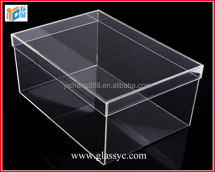 Wholesale Transparent shoe box Acrylic Sneaker Box acrylic shoe box