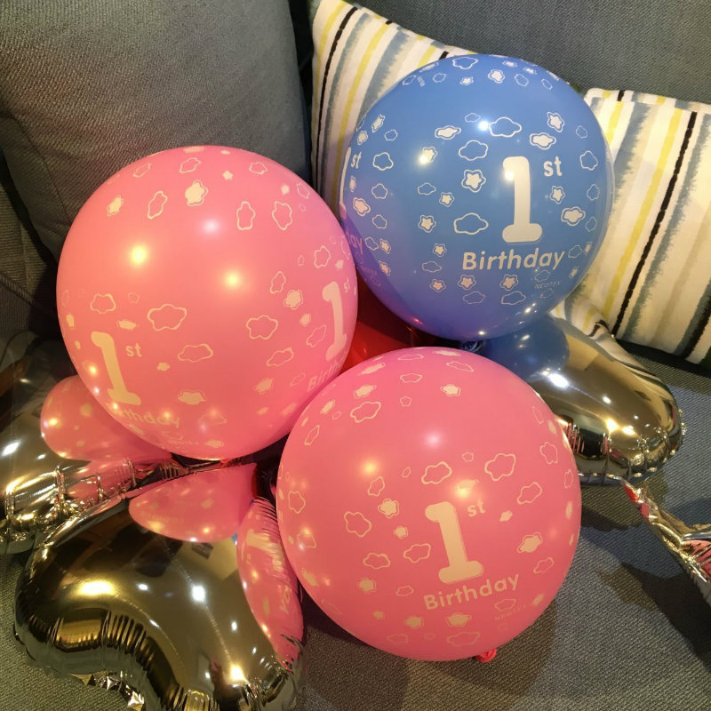 Latex balloons old popped