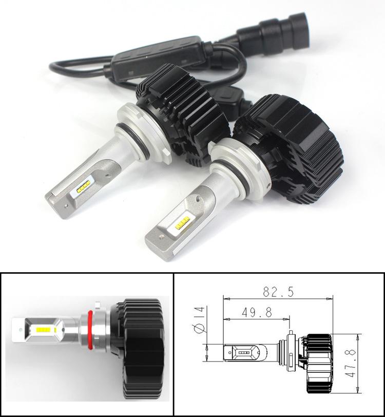 7plus led headlight -9006