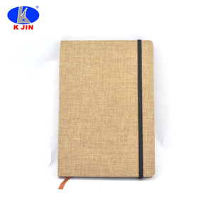 Eco friendly simple business style notebook with elastic cord