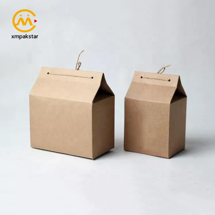 Wholesale eco recycled customizable brown black white craft paper Kraft food package box