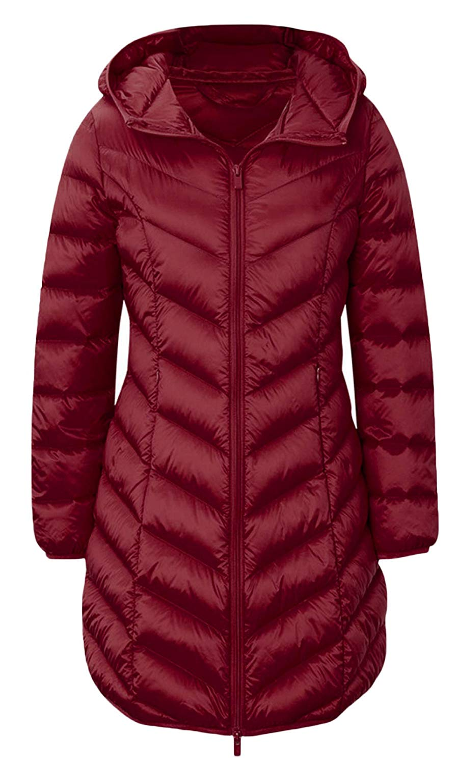 GAGA Men Winter Outer Duck Parka Puffer Jacket Down Long Coat