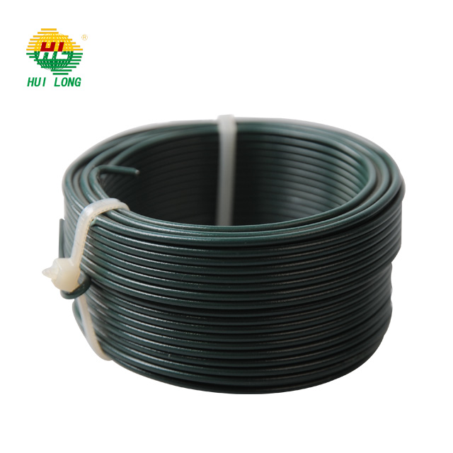 PVC Coated Galvanized Wire Green PVC Coating Binding Tie Wire PE Coated Hanger Wire