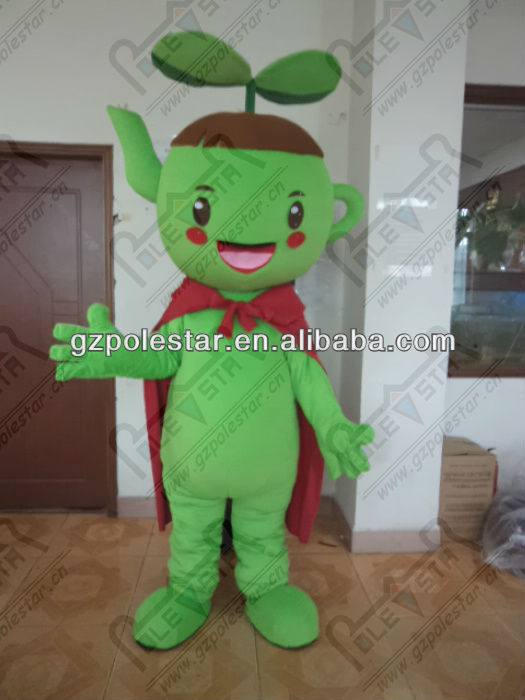 green superman apple mascot costumes