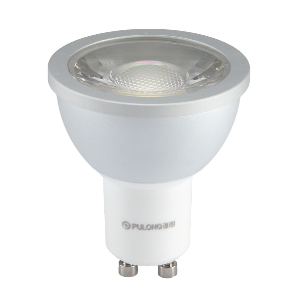 6W COB Dimmable LED spotlight bulb,680Lm,CRI80,GU10 LED spotlights,50W incandescent replacement