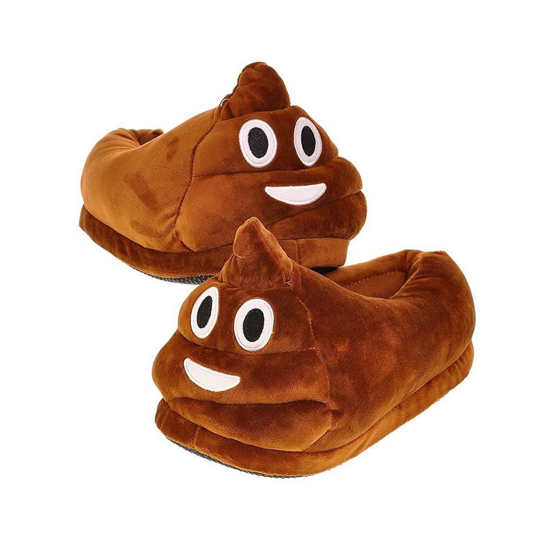 6ce03f8be0560 Get Quotations · Emoji Poop Slippers,QQ Smile Unisex Cartoon Indoor Shoes  for Women Teens Girls Boys Men