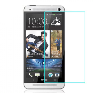 Low MOQ fast delivery explosion-proof best tempered glass screen protector for HTC ONE M7
