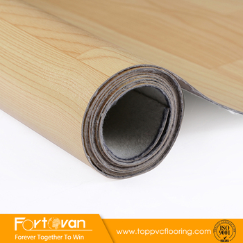 Wood Look PVC Vinyl Floor Rolls White Linoleum Flooring Prices