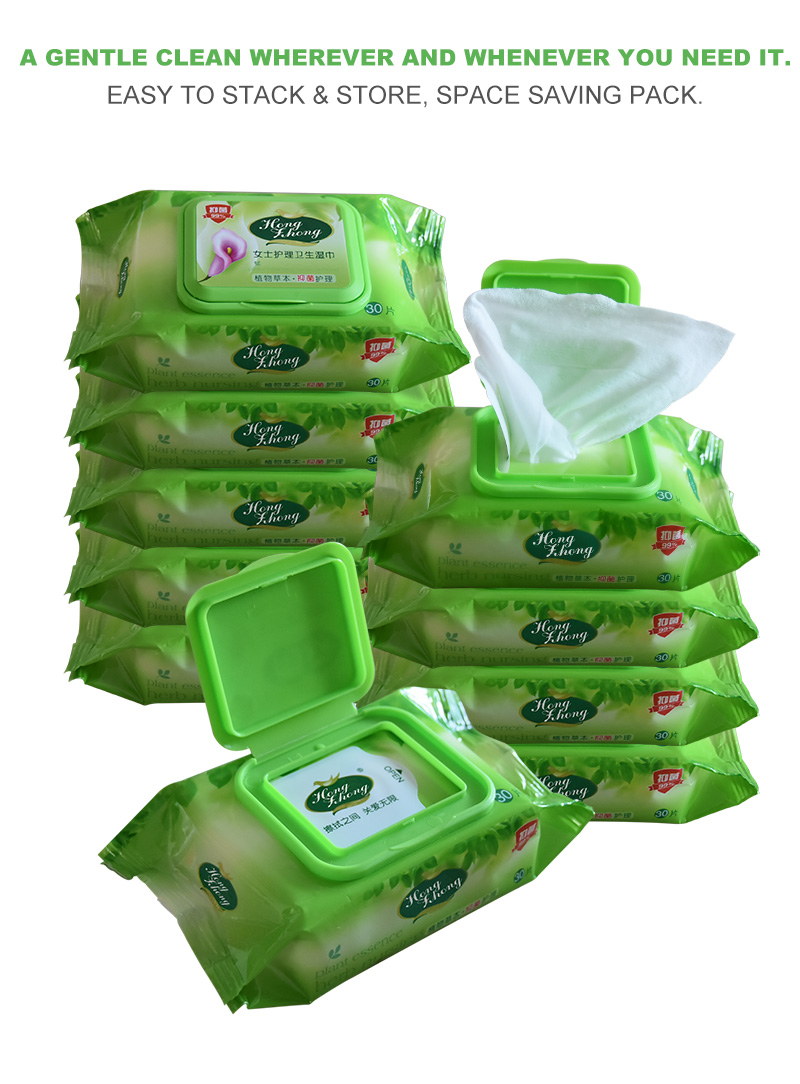 Bulk Custom Printed Antibacterial Hand and Face Wet Wipes Tissue For Adult