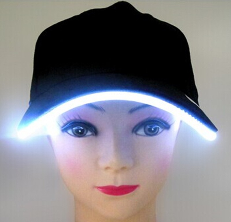 Baseball Cap With Built-In Led Light High Quality Fashion 6 Panel Cotton Custom