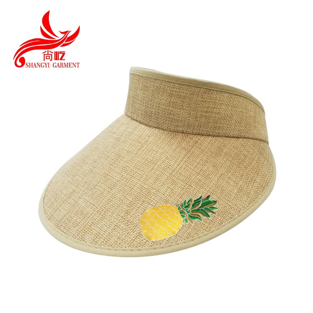 high quality cheap fashion lady summer paper straw beach visor hats