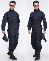 cheap black custom work safety security guard dress/ uniform