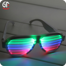 Best Friend Birthday Gift Hight Quality Flashing LED Music Activated Brand Sunglasses
