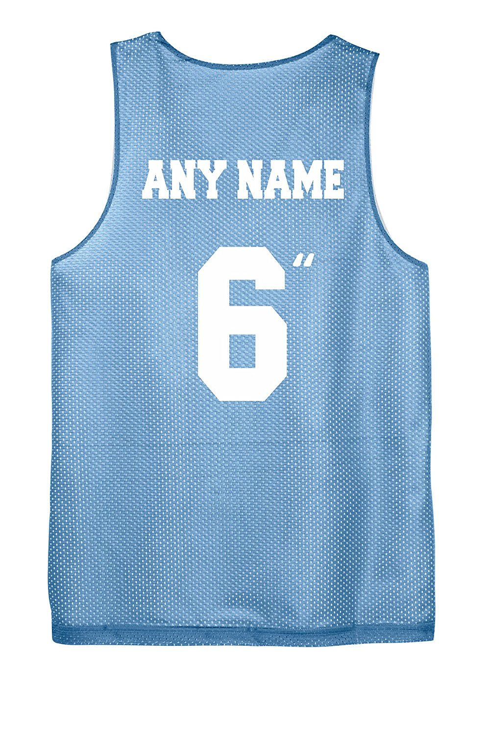 ef20cf38a Get Quotations · Youth Basketball Reversible Jersey Custom Screen Printed  on All 4 Sides