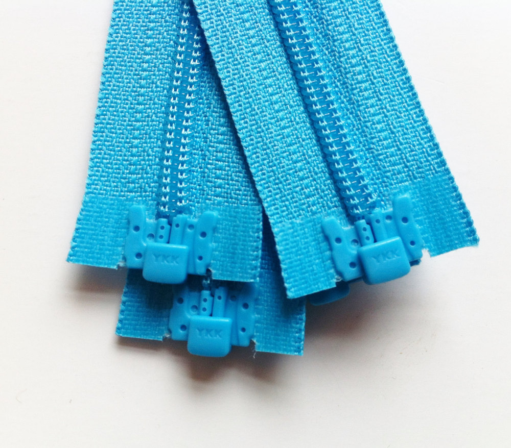 Separating Zippers- Parrot Blue 547- 5 Pieces 3mm Nylon Coil Ykk ...