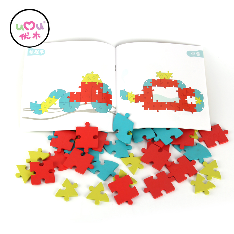 UMU#1086 Creativity and Imagnation Wooden Puzzle Baby Wooden Toys