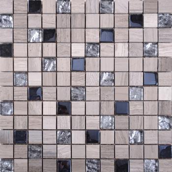 QS005 Pietra Mix Di Vetro Mosaico Piastrelle/pietra Di Vetro Mattonelle  Della Parete A Mosaico